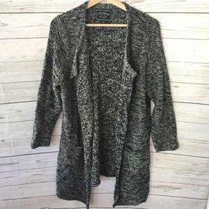 Lucky Brand 1X Open Front Drape Cardigan Sweater